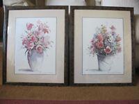 Pair of printings of flowers