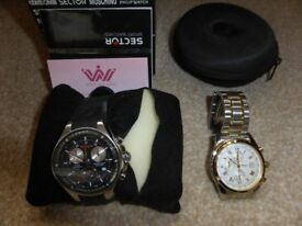 mens Sector and Sekonda watches