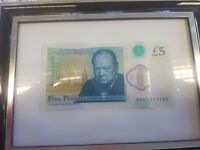 Super rare polymer £5 note 🅰🅰01(Print error.)