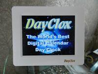 DAY CLOX 7 INTERNATIONAL DIGITAL CALENDAR CLOCK