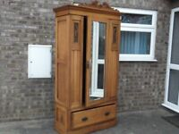 Late Victorian Satinwood wardrobe