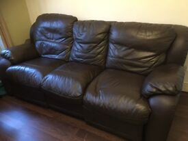 3 seater leather sofa with recliner