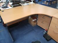 Large Officer Corner Desk