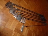 Set of Golfing Irons, Wedges and Putter