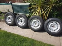 T25 syncro snow tyres and wheels plus spares