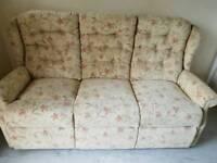 3 Seater Cream Fabric sofa