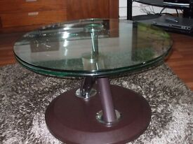 Glass coffee table and side board