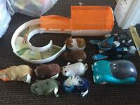 7 x Zhu Zhu pet electronic hamster toys & accessories