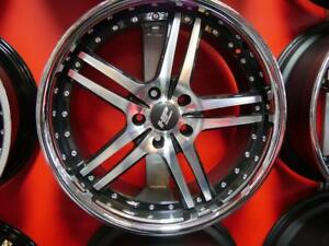 20 INCH STAGGERED NEW RIMS BLACK & BLACK & MACHINED 5X114.3 +5X120 RIM SALE