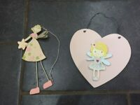 Fairy Hanging Plaques x 2