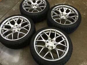 "18"" VMR Hyper Silver Wheels 5x114.3 & Winter Tires 225/40R18 (Japanese Cars) Calgary Alberta Preview"