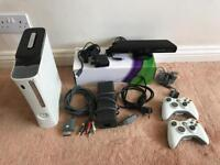 Xbox 360, 120gb hdd, kinect, all kit