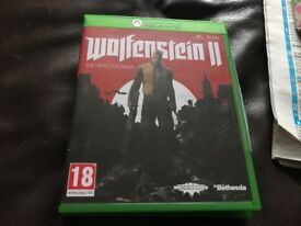 New Xbox one game for sale wolfverstein 2 the new colossus £20bargain