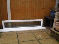 LONG NARROW UPVC WHITE DOUBLE GLAZED WINDOW
