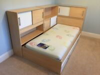 Dreams Snoop Single Bed, With Storage, Side Shelving Units and Koko Mattress