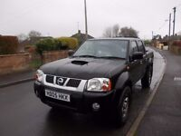 NISSAN NAVARA 2005 DOUBLE CAB PICK UP MOT END JULY 17 DIESEL EXCELLENT WORK HORSE