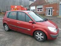 2006 RENAULT MEGANE SCENIC 2.0 VVT DYNAMIQUE 5 DOOR HATCHBACK RED