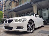 Stunning BMW 3 Series White M Sport Coupe 2012- Full Red Leather Interior