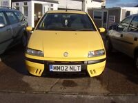 2002 FIAT PUNTO ACTIVE SPORT LOT OF SERVICE HISTORY AND RECEIPTS CLEAN CHEAP SPORTY CAR 12 MONTH MOT