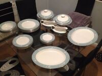 32 piece royal doulton dinner service.includes serving plates and gravy boats.all in good condition