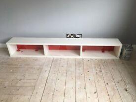 White long shelf unit