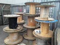 Up cycle , wooden cable drums used for up cycle various sizes good solid drums