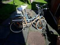 2 Hercules fold up bikes