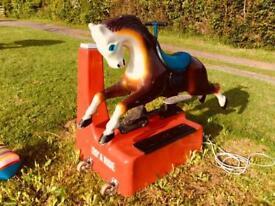 1960's fairground vintage horse rocking horse rode