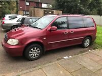 Kia Sedona 2002. MOT till July. Very good condition. Serviced and ready to go.