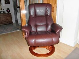 TWO RECLINER/SWIVEL CHAIRS IN NEED OF NEW HOME AND REVAMP