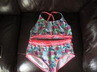 Bhs 14/15 years pink & aqua girls bikini