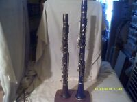 TWO ALBERT SYSTEM CLARINETS a PRETTY LITTLE E flat and a LACROIX B flat +++