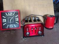 Red kitchen goods