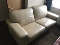 6 seat and 3 piece leather sofa