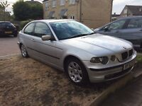 BMW 318ti SE Compact Auto in Silver. MOT July 2017. 100k. FSH with 11 stamps