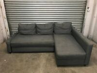 FREE DELIVERY IKEA FRIHETEN GREY L-SHAPED CORNER SOFA BED