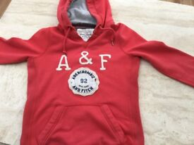 Ladies Abercrombie and Fitch Red Hoodie