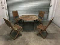 FREE DELIVERY WOODEN GARDEN TABLE & 4 CHAIRS
