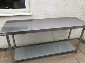 Catering table stainless steel