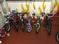 A wide range of kids bikes
