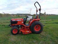 "Kubota B2710 Compact Tractor c/w 60"" Rear Discharge Cutting Deck"
