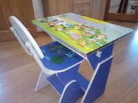Kids height adjuatable study desk and chair