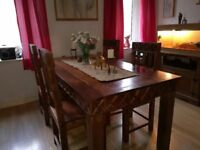 Heavy wooden table and 4 chairs