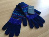 Paul Smith 100% wool gloves bnwt rrp £65
