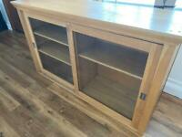 Oak and glass dresser top