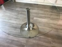 Round glass table-Marks and Spencer