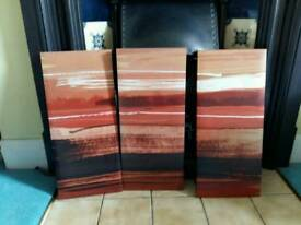 Set of 3 canvas paintings from Next