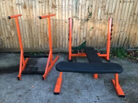 commercial gym equipment Bench Press / Military Press / Dip Bar / Bench / Bar