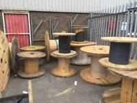 Wooden cable drums various sizes used can deliver locally