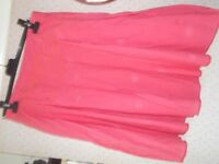 NEXT coral flared skirt, size 12.